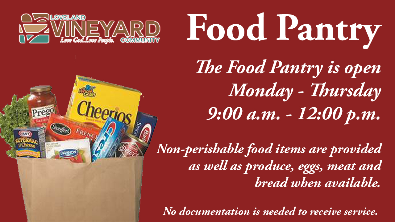Food Pantry Loveland Vineyard Community